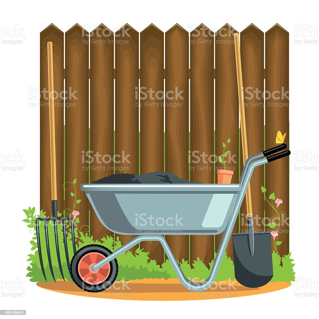 gardener's tools royalty-free gardeners tools stock vector art & more images of butterfly - insect
