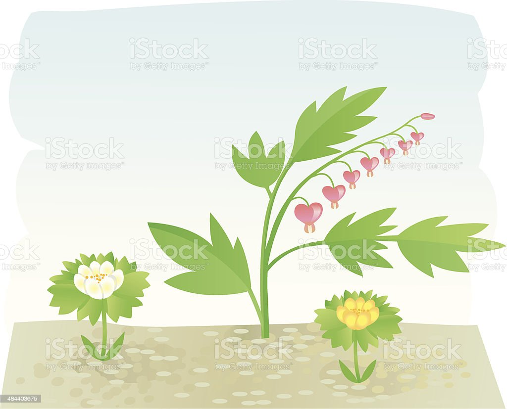 Gardenflowers II. royalty-free stock vector art