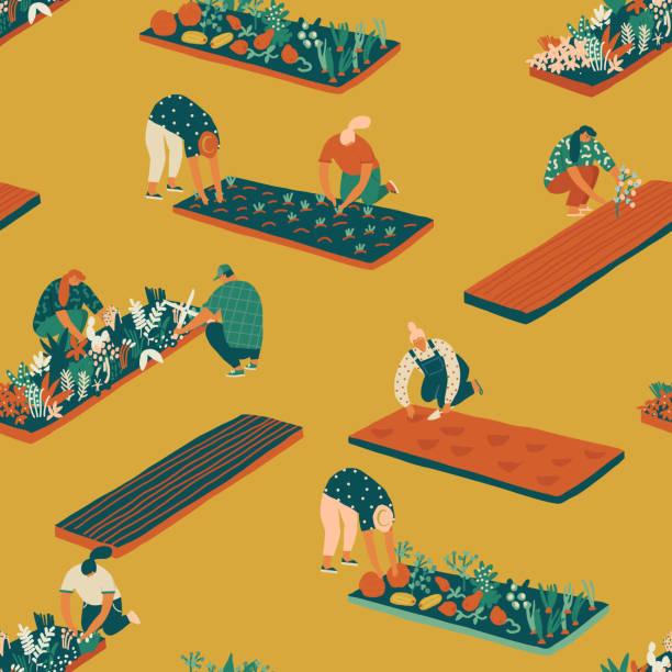 Best Community Garden Illustrations, Royalty-Free Vector Graphics & Clip Art - iStock