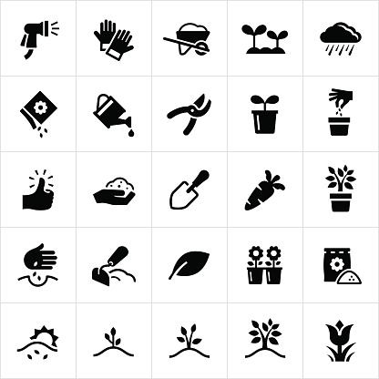 Gardening and Planting Icons