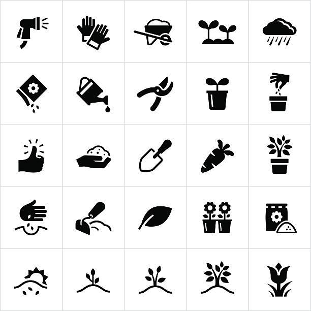 Gardening and Planting Icons​​vectorkunst illustratie