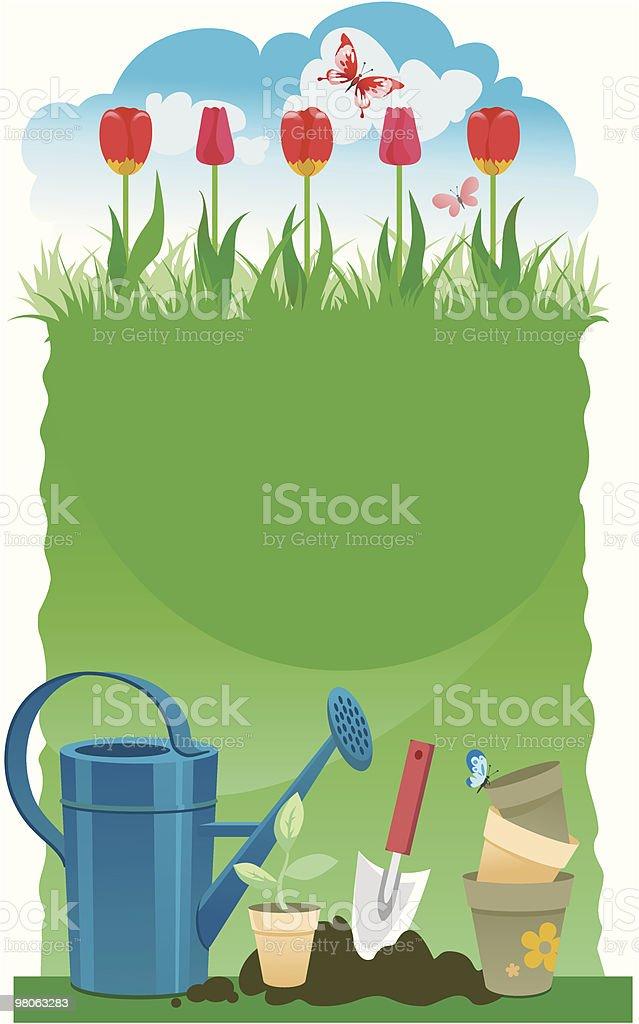 Giardinaggio sfondo giardinaggio sfondo - immagini vettoriali stock e altre immagini di acciaio royalty-free