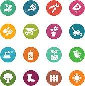 Gardening Circle Colour Harmony icons   EPS10