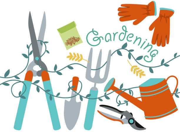 Gardening Design Element Vector illustration. This is an EPS 8 file. High resolution JPG and PNG file included. garden center stock illustrations