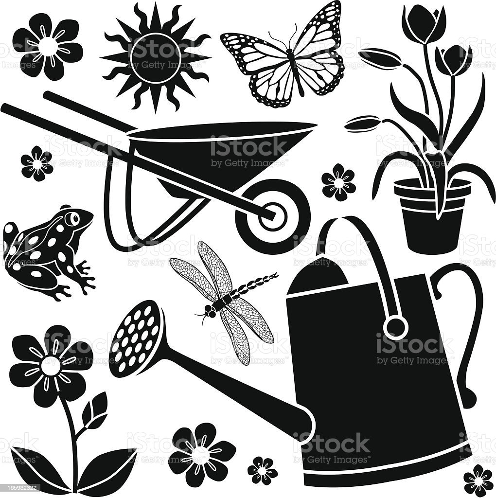 gardening design elements royalty-free stock vector art