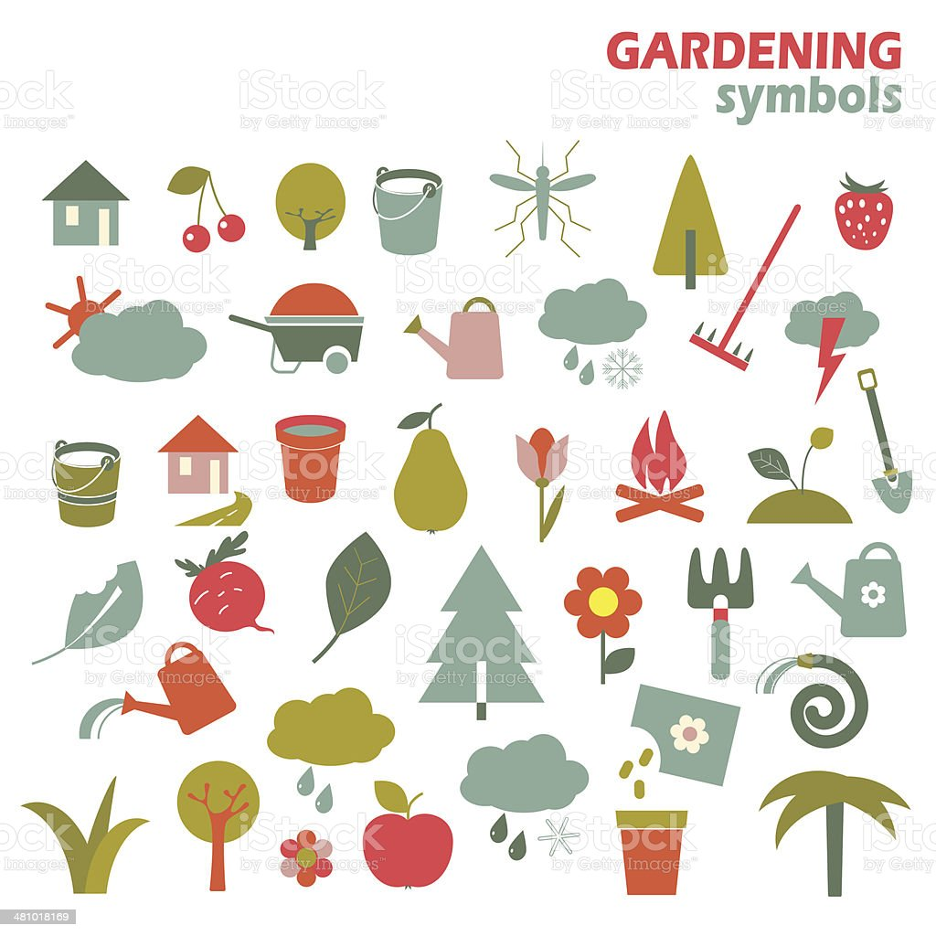 Gardening design elements royalty-free gardening design elements stock vector art & more images of agriculture