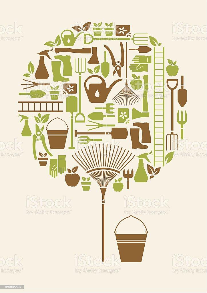 Gardening Equipment Icon Set royalty-free gardening equipment icon set stock vector art & more images of apple - fruit