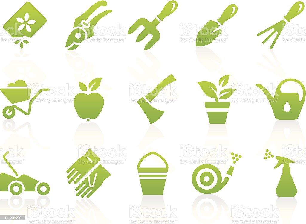 Gardening Equipment Icon Set royalty-free gardening equipment icon set stock vector art & more images of bucket