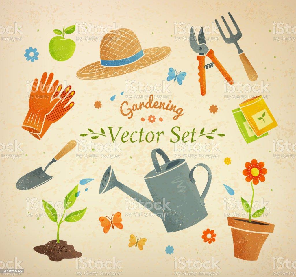 Gardening equipment. vector art illustration