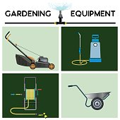 Gardening equipment vector