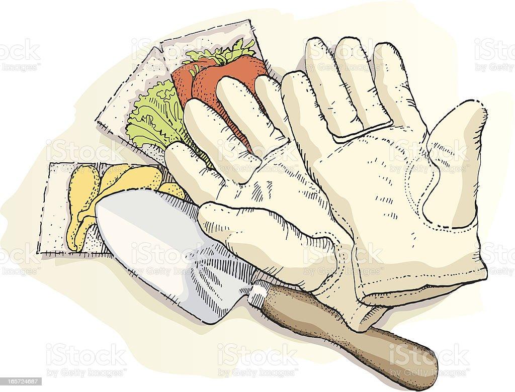Gardening Gear vector art illustration