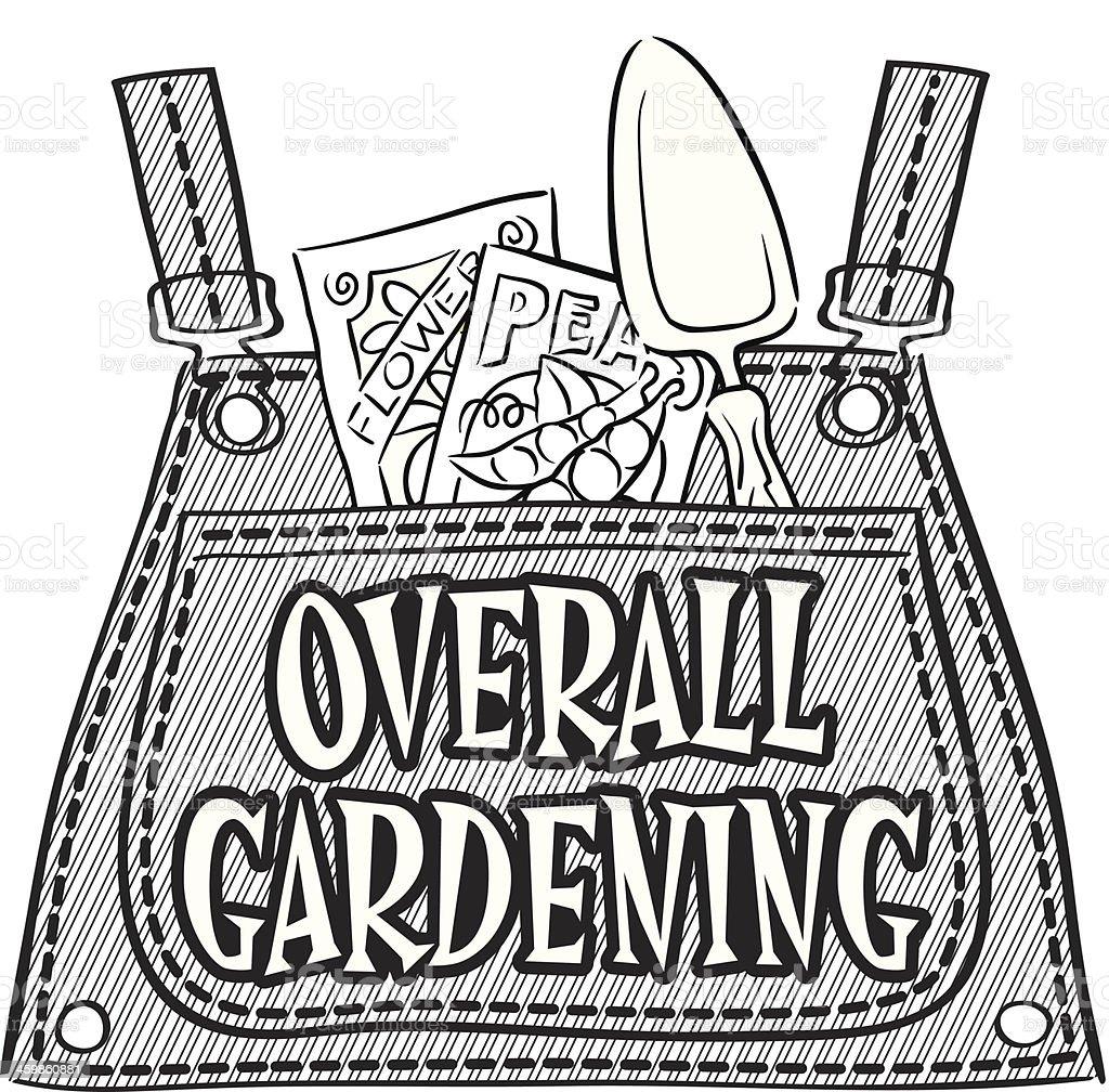 Gardening Heading vector art illustration