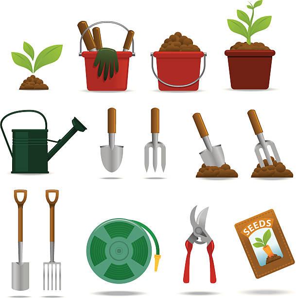 Gärtnern icon-set – Vektorgrafik