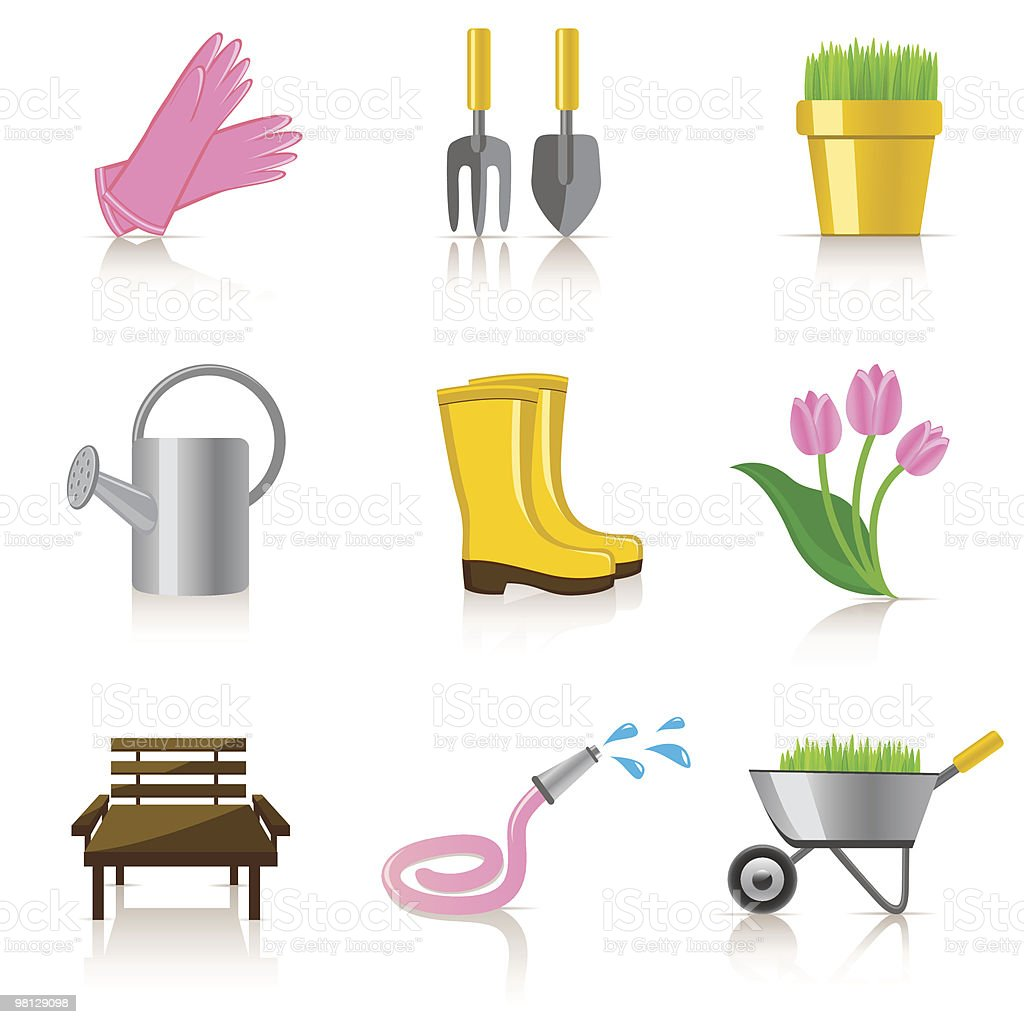 gardening icon set royalty-free gardening icon set stock vector art & more images of agriculture