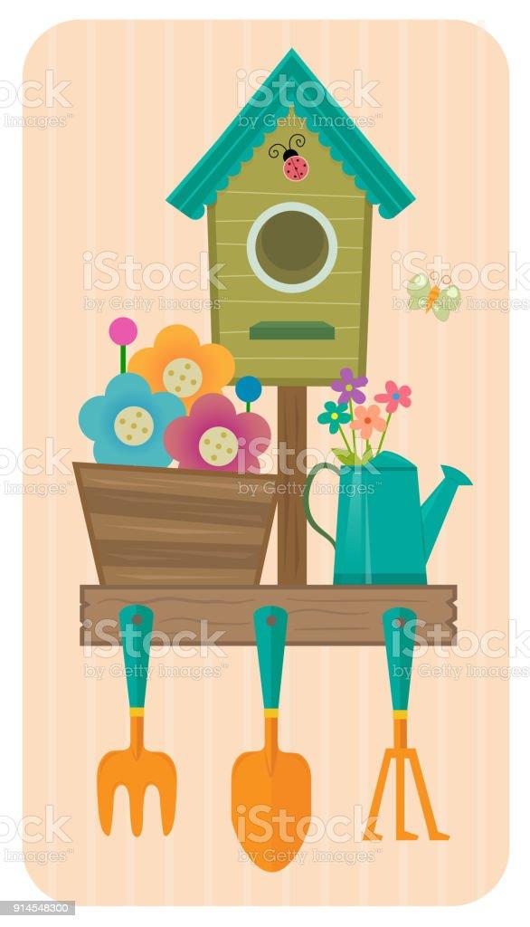 Gardening Icon vector art illustration