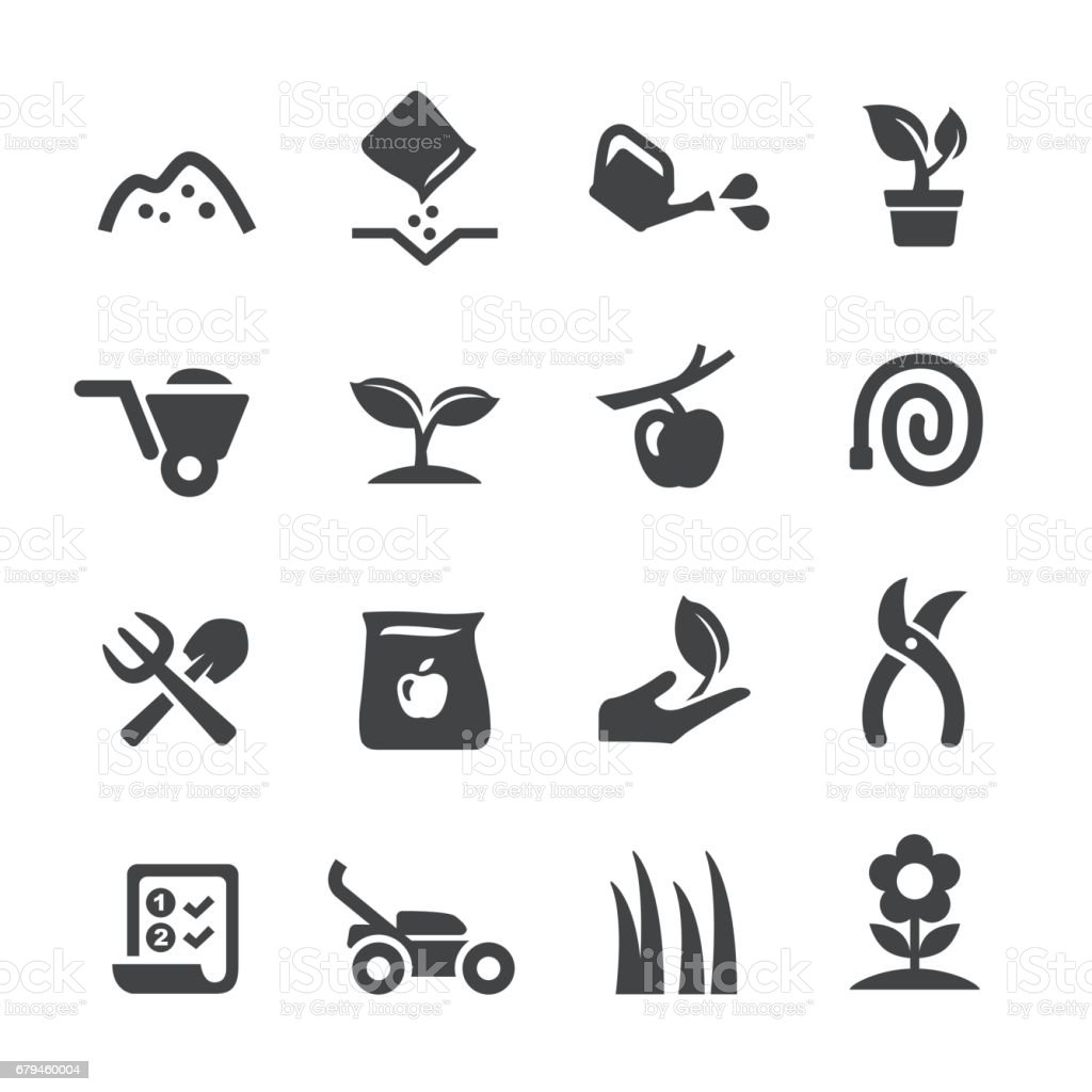Gardening Icons - Acme Series vector art illustration