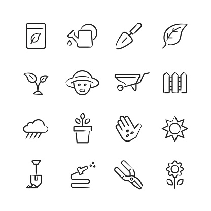 Gardening Icons — Sketchy Series