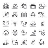 Gardening, planting, garden, agriculture, icon, icon set, farm, seedling