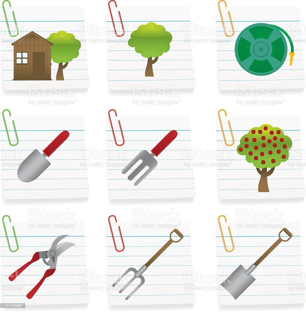 Gardening Icons royalty-free gardening icons stock vector art & more images of adhesive note