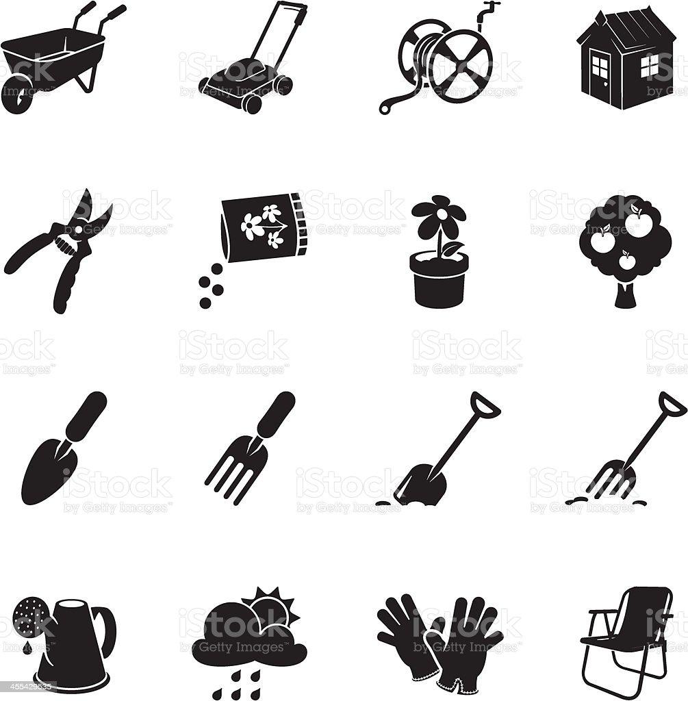 Gardening Icons royalty-free stock vector art