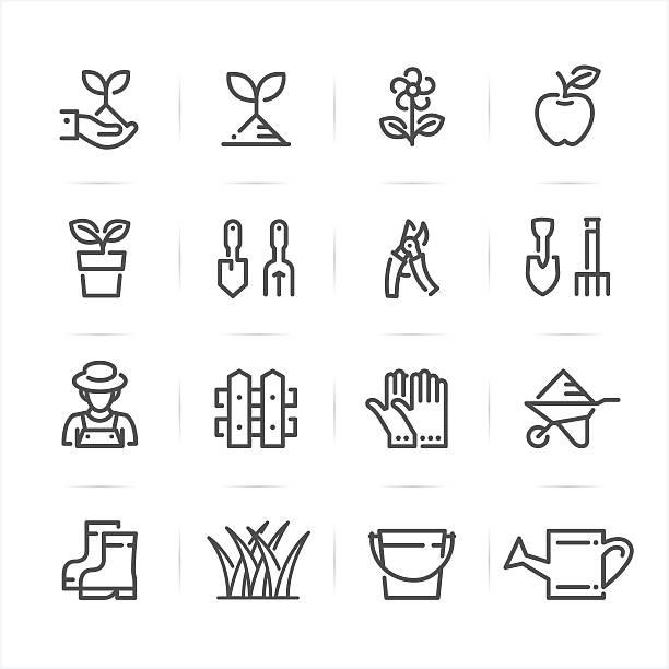 Gartenarbeit Symbole  – Vektorgrafik