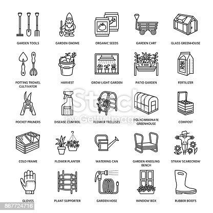 gartenarbeit linie pflanzen und gartenbau symbole gartenger te biosaatgut d nger gew chshaus. Black Bedroom Furniture Sets. Home Design Ideas