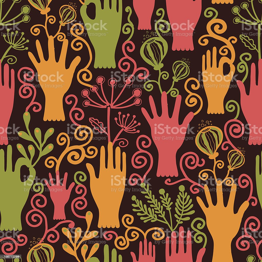 Gardening Seamless Pattern royalty-free stock vector art