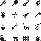 Gardening Silhouette Vector File Icons.