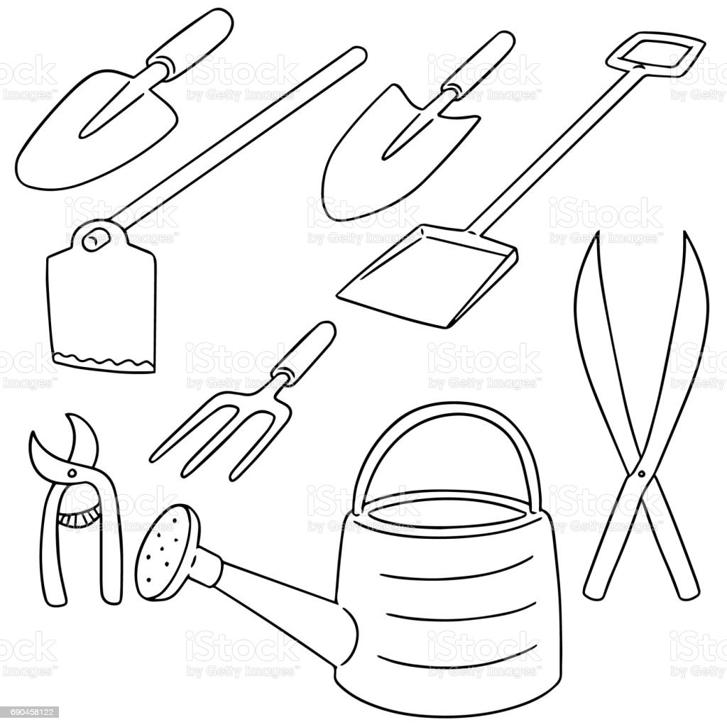 gardening tool vector art illustration