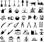 Gardening Tools and Products Icons