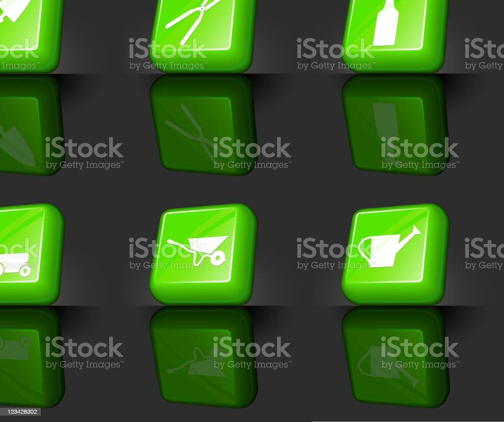 gardening tools internet royalty free vector icon set royalty-free stock vector art