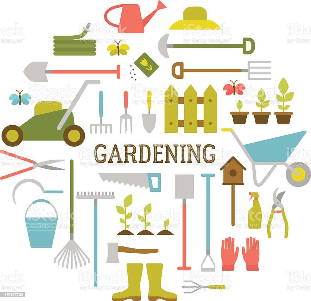 587877766 istock for Gardening tools vector