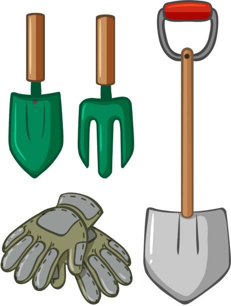 Royalty free gardening glove clip art vector images - Herramientas de jardineria ...