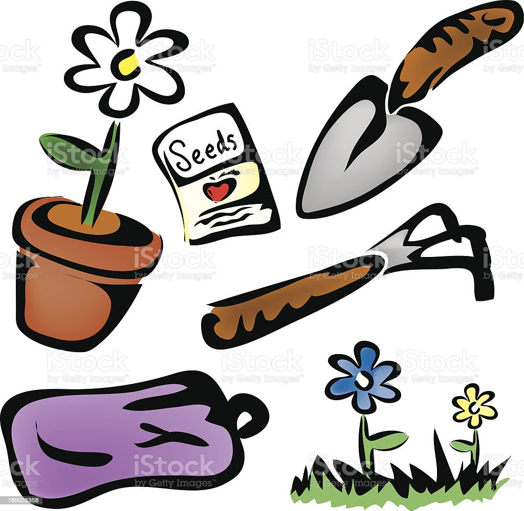Gardening royalty-free stock vector art