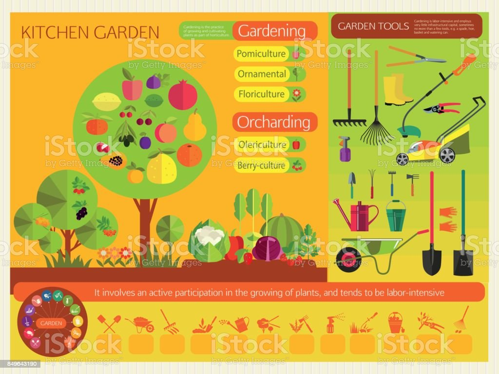 Gardening. vector art illustration
