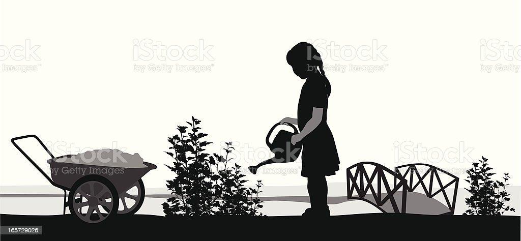 Gardening Vector Silhouette vector art illustration