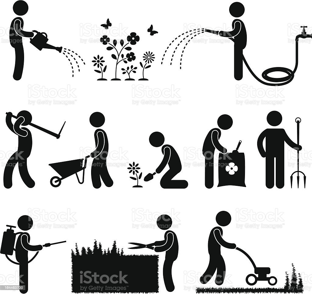 Gardening Work Pictogram royalty-free stock vector art