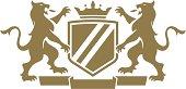Vector illustration of a crest.