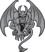 Gargoyle Isolated on black