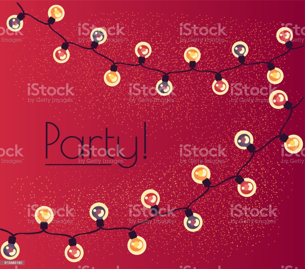 garland of twinkling lights. Illumination for a party vector art illustration