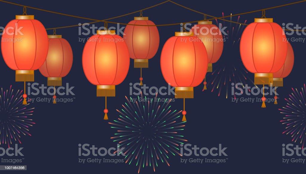 Mit Asiatischen Roten Traditionellen Kette Girlande Lampion 5qS3LcRj4A
