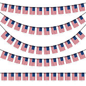 garlands with american national colors