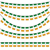 garlands with irish national colors