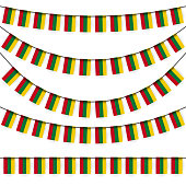 garlands with lithuanian national colors