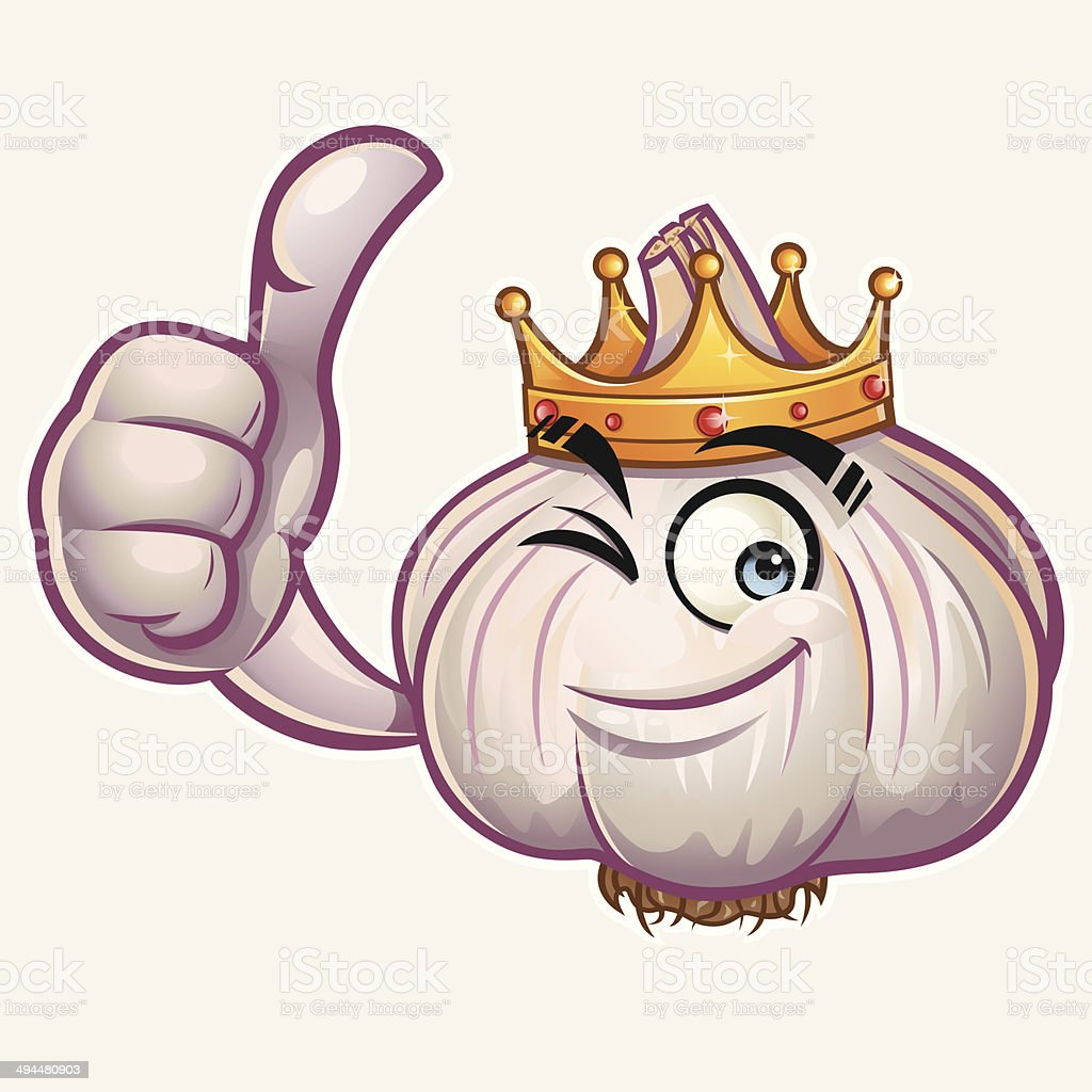 Garlic Cartoon - Thumbs Up royalty-free garlic cartoon thumbs up stock vector art & more images of agreement