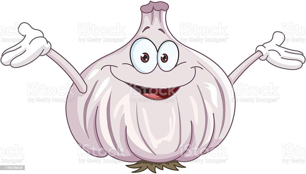 Garlic cartoon royalty-free stock vector art
