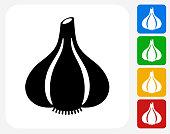 Garlic Icon Flat Graphic Design