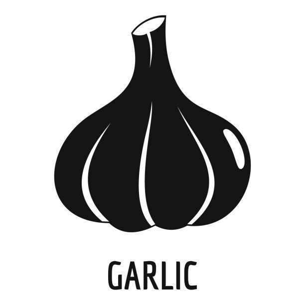 Garlic icon, simple style. Garlic icon. Simple illustration of garlic vector icon for web garlic stock illustrations
