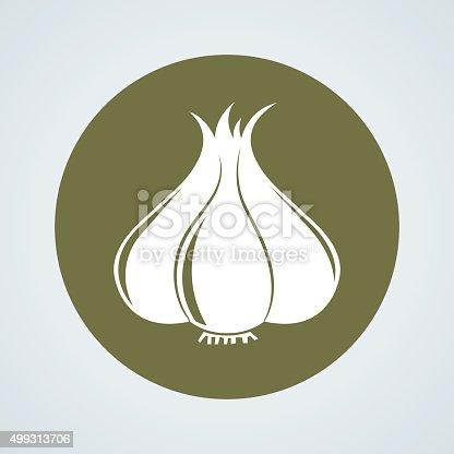 istock garlic icon 499313706