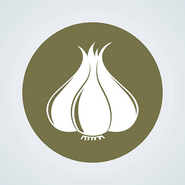 garlic icon garlic icon garlic stock illustrations